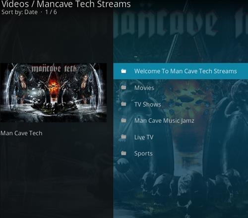 How to Install Mancave Tech Streams Kodi Add-on pics 2
