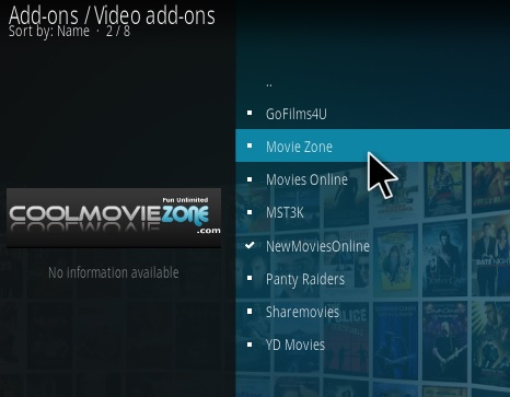 How to Install Movie Zone Kodi Add-on Step 17