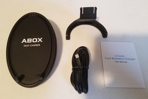 Review ABOX Qi Fast Wireless Charging Pad Stand with Cooling Fan ALL