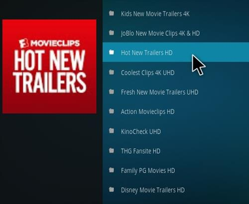How To Install 4K Movie Trailers Kodi Addon Overview