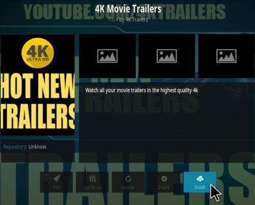 How To Install 4K Movie Trailers Kodi Addon Step 18