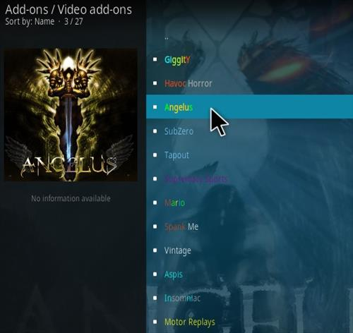 How To Install Angelus Kodi Addon New Ver 123 Step 16