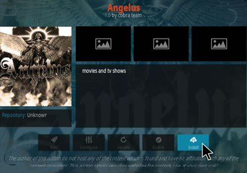How To Install Angelus Kodi Addon Step 18