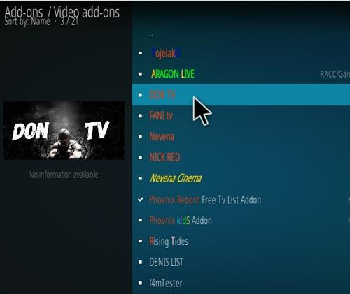 How To Install Don TV Kodi Addon Step 17