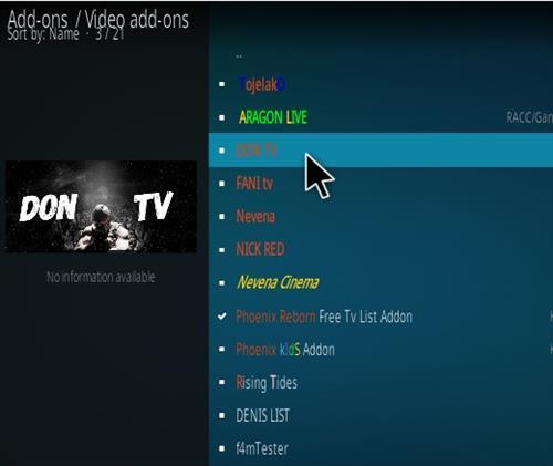 How To Install Don TV Kodi Addon Step 17