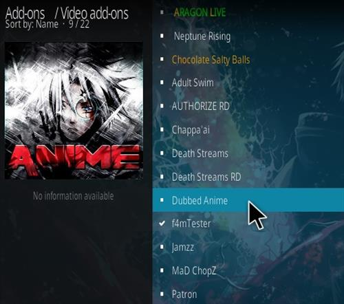 How To Install Dubbed Anime Kodi Addon Step 17