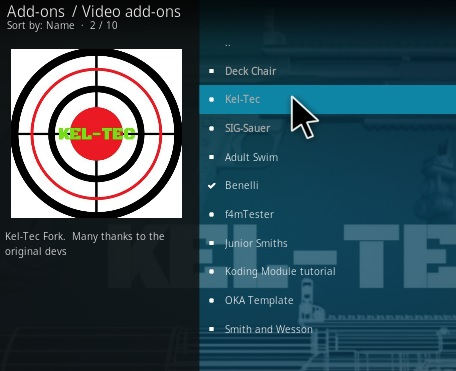 How To Install KEL TEC Kodi Addon Step 17