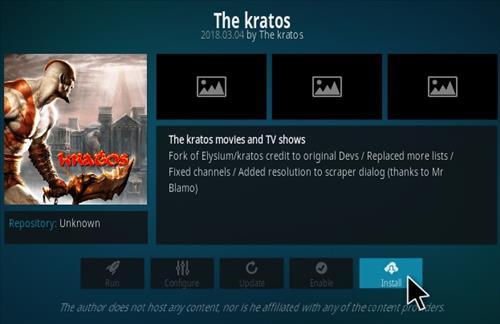 How To Install Kratos Kodi Addon Step 19