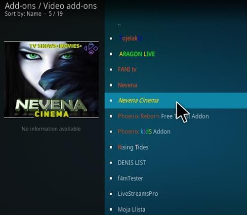 How To Install Nevena Cinema Kodi Addon Step 17