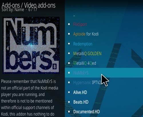 How To Install Numbers Kodi Video Addon Step NEW 17
