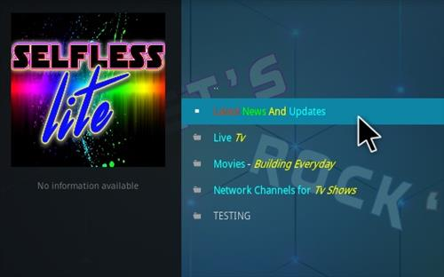How To Install Selfless Lite Kodi Addon Overview