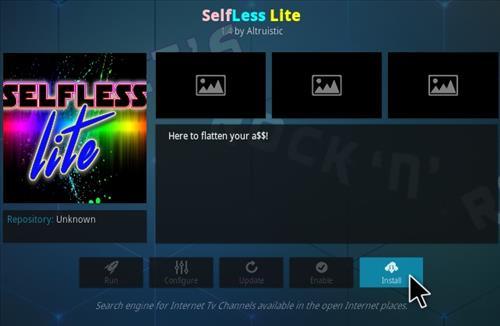 How To Install Selfless Lite Kodi Addon Step 18