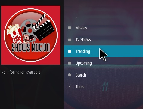 How To Install Shows Motion Kodi Addon Overview