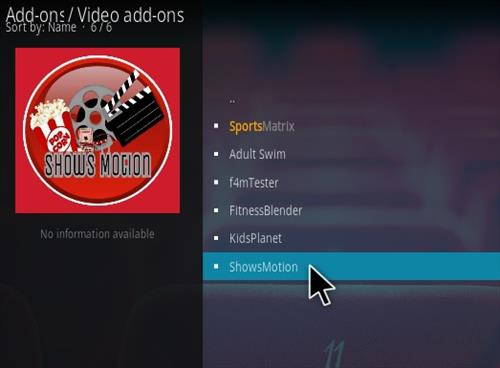 How To Install Shows Motion Kodi Addon Step 17