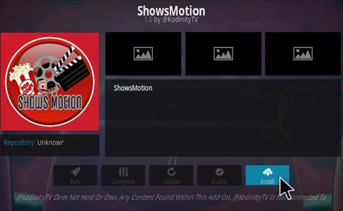 How To Install Shows Motion Kodi Addon Step 18