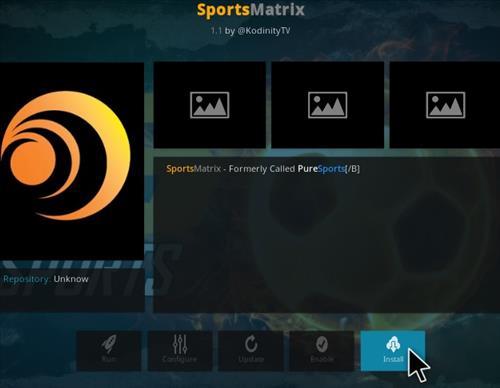 How To Install Sports Matrix Kodi Addon Step 18