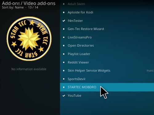 How To Install StarTec Modbro Kodi Addon Step 17