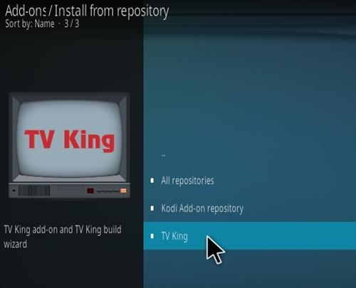 How To Install TV King Kodi Addon Step 15