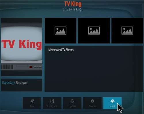 How To Install TV King Kodi Addon Step 18