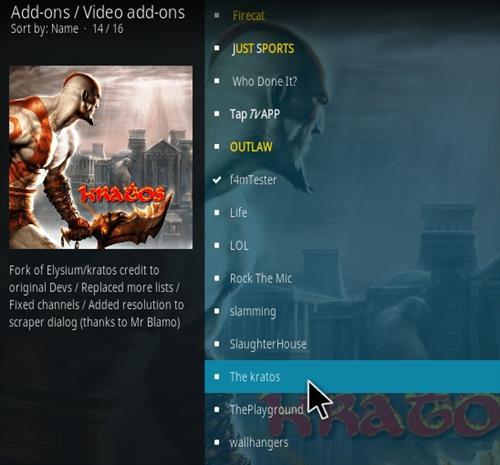 How To Install The Kratos Kodi Addon New Scroll Step 17