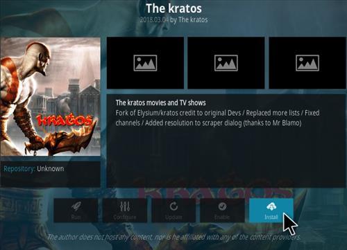How To Install The Kratos Kodi Addon New Scroll Step 18