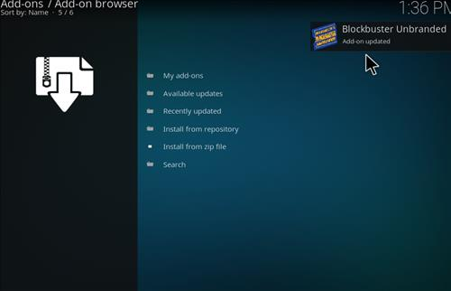 How to Install Blockbuster Unbranded Kodi Add-on 14