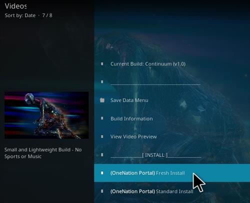 How to Install Continuum Kodi Build Step 22