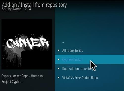 How to Install Project Cypher Kodi Addon 2018 Step 15
