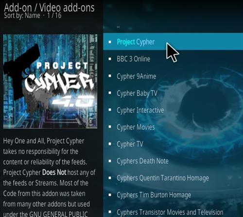 How to Install Project Cypher Kodi Addon 2018 Step 16