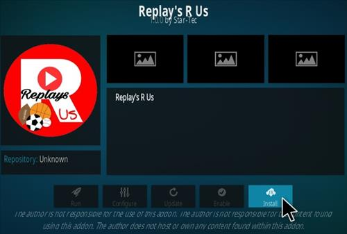 How to Install Sports Replay's R Us Kodi Addon Step 20