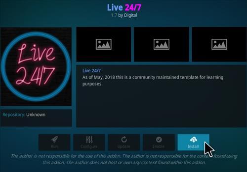 How To Install 24 7 Live Kodi Addon Step 18
