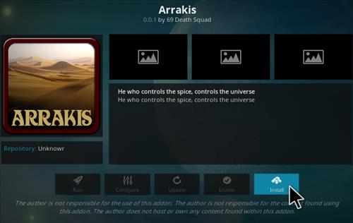 How To Install ARRAKIS Kodi Addon Step 18
