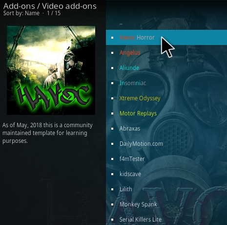How To Install Hvaoc Horror Kodi Addon Step 17