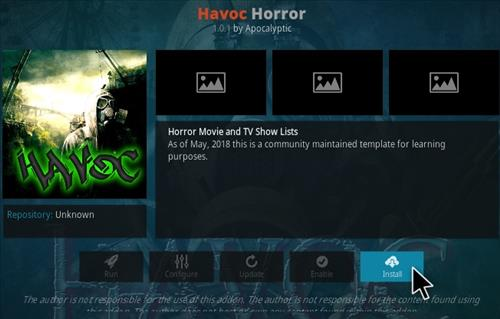 How To Install Hvaoc Horror Kodi Addon Step 18