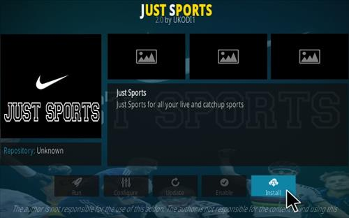 How To Install Just Sports Kodi Addon Step 19