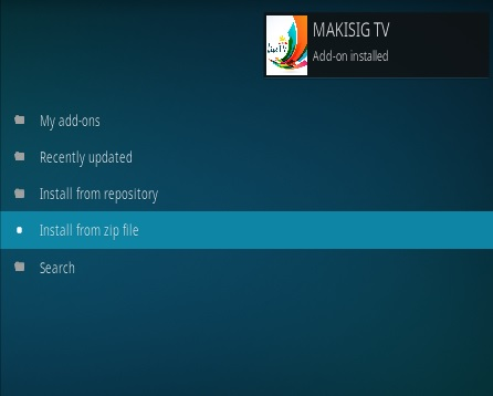 How To Install Makisig TV Kodi Addon Step 13