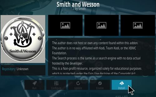 How To Install Smith and Wesson Kodi Addon Step 18