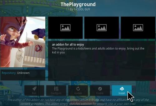 How To Install The Playground Kodi Addon Step 19