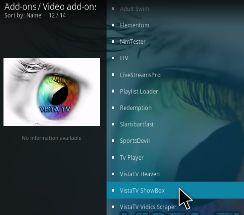 How To Install VistaTV ShowBox Kodi Addon Step 17