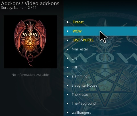 How To Install WOW Kodi Addon Step 17