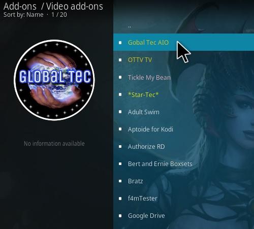 How to Install Global Tec Kodi Addon Step 18