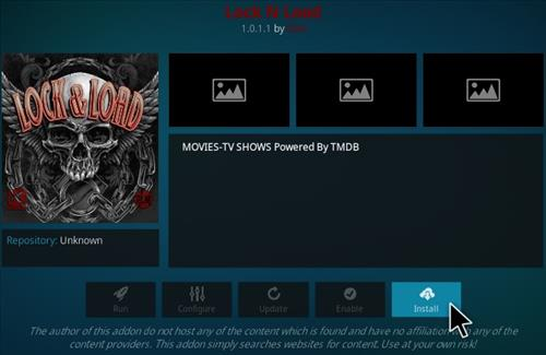 How to Install Lock and Load Kodi Addon Step 18