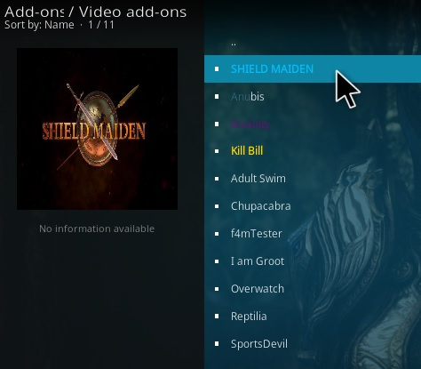 How to Install Shield Maiden Kodi Addon Step 21