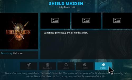 How to Install Shield Maiden Kodi Addon Step 22