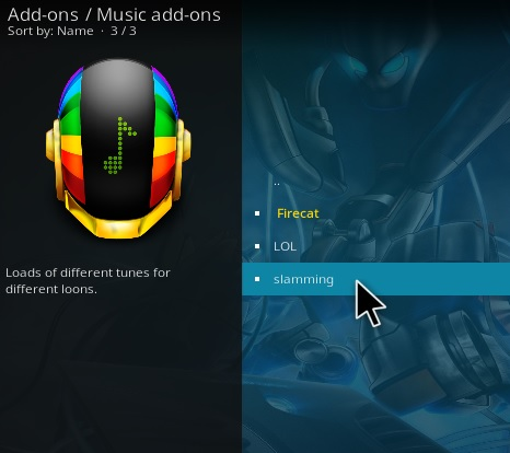 How to Install Slamming Kodi Music Addon Step 18