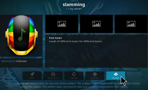 How to Install Slamming Kodi Music Addon Step 19