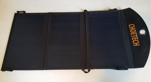 Review CHOETECH 19W Solar Panel Charger Unfolded