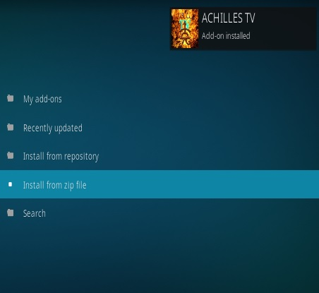 How To Install Achilles TV Kodi Addon Step 13