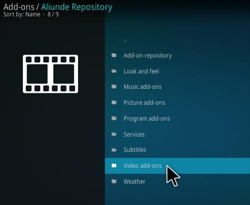 How To Install Aliunde Kodi Addon Step 17