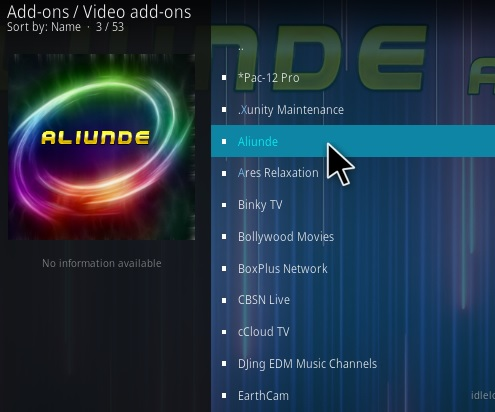 How To Install Aliunde Kodi Addon Step 18